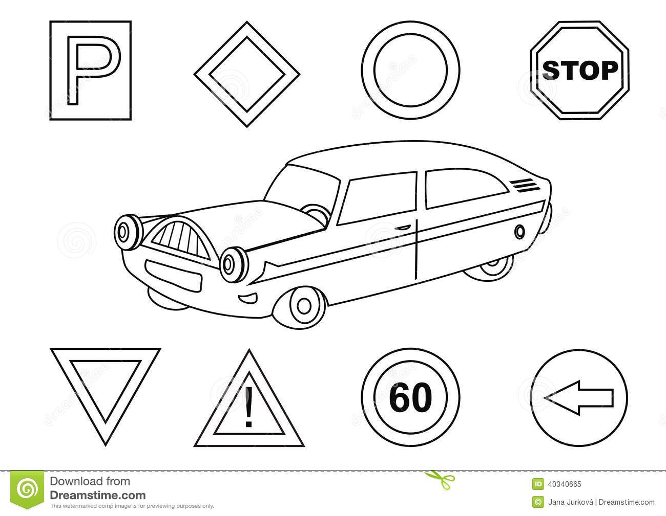 Traffic Signs Matching Worksheet