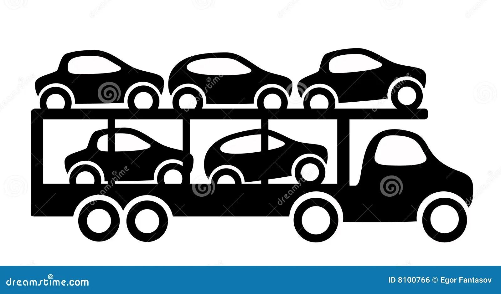 Car Trailer Stock Vector Illustration Of Hasten