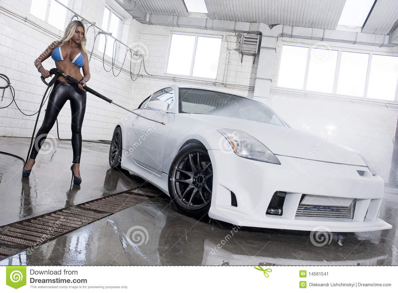 Car Wash Fashion Model Stock Image Image Of Model