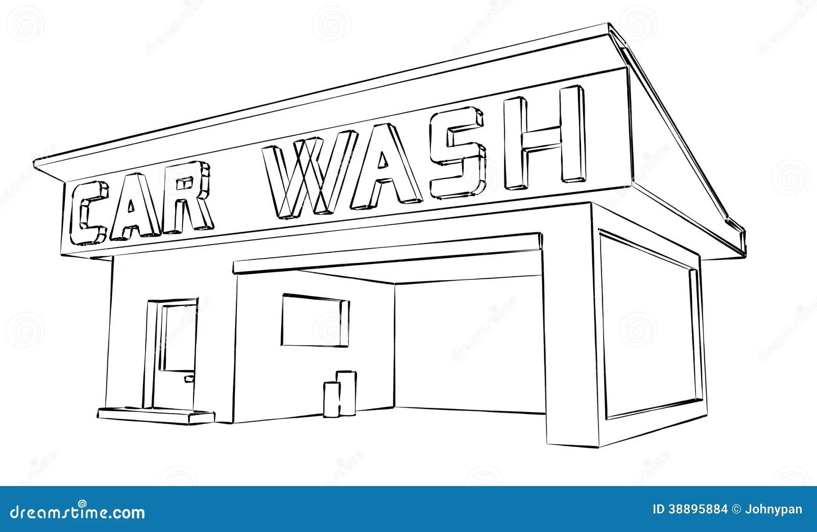 Car Wash Stock Illustration Illustration Of Automobile