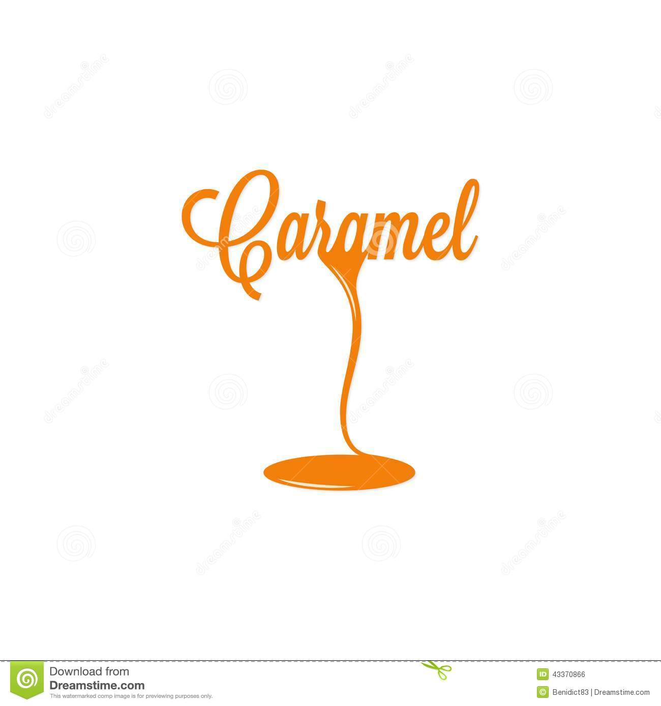 Caramel Isolated Sign Stock Vector Image 43370866