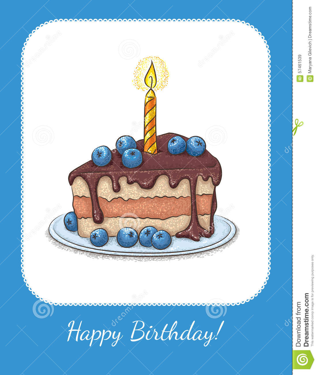 Download Card Birthday Stock Vector. Illustration Of Gift, Letters -  57461539