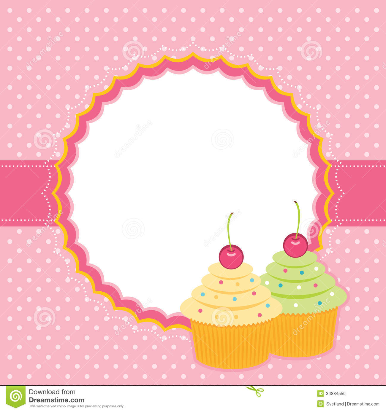 Card With Cupcakes Stock Vector Image Of Happiness