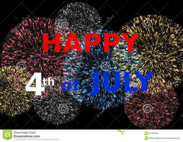 card happy 4th of july colorful