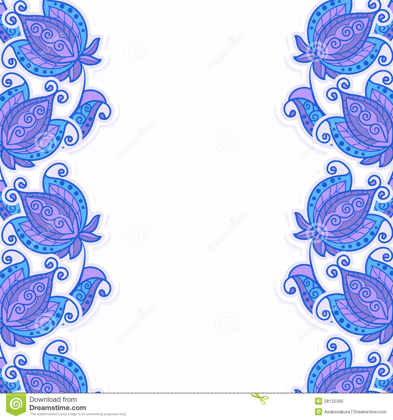 Card Or Invitation With Floral Background Stock Vector