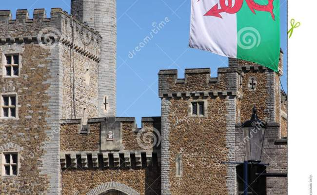 Cardiff Old Town Wall Editorial Image Image 24627865