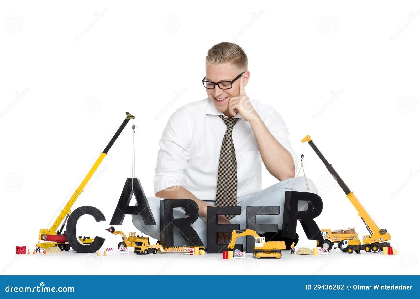 Good Morning Animation Wallpaper Career Start Up Businessman Building Career Word Stock