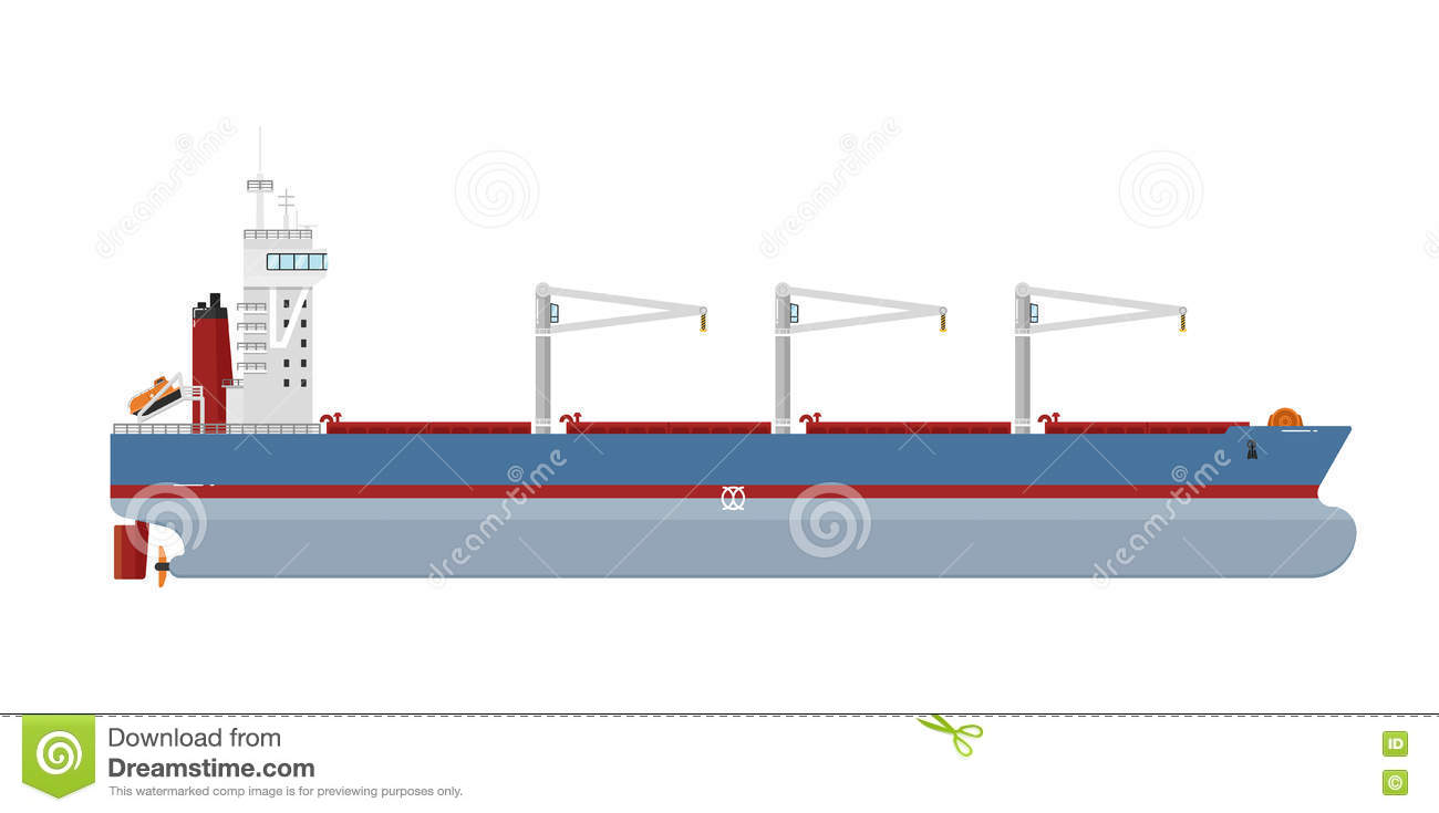 hight resolution of cargo ship isolated on white background