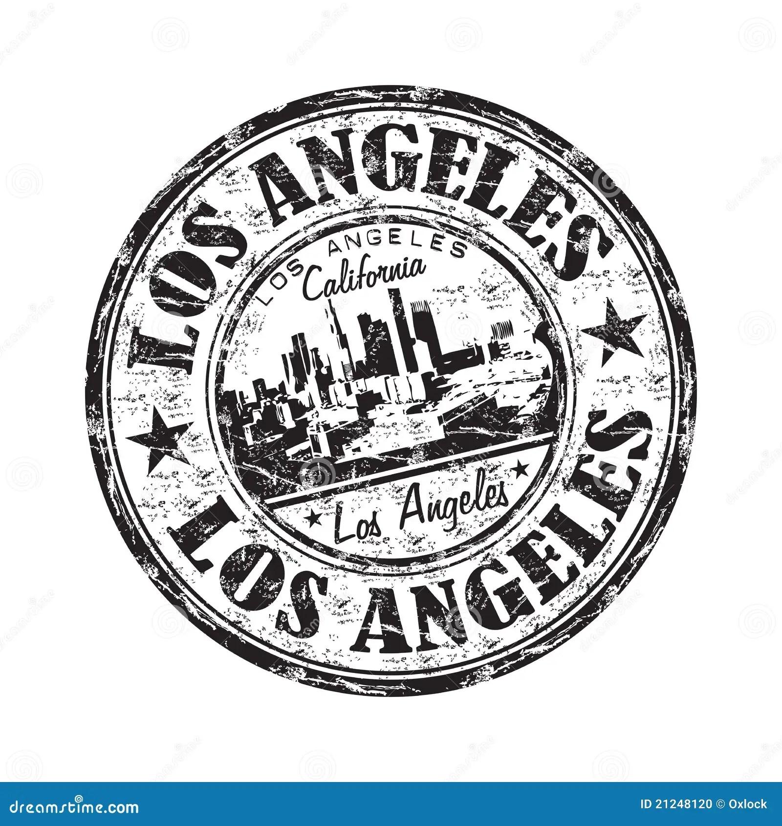 Carimbo De Borracha Do Grunge De Los Angeles Ilustracao Do