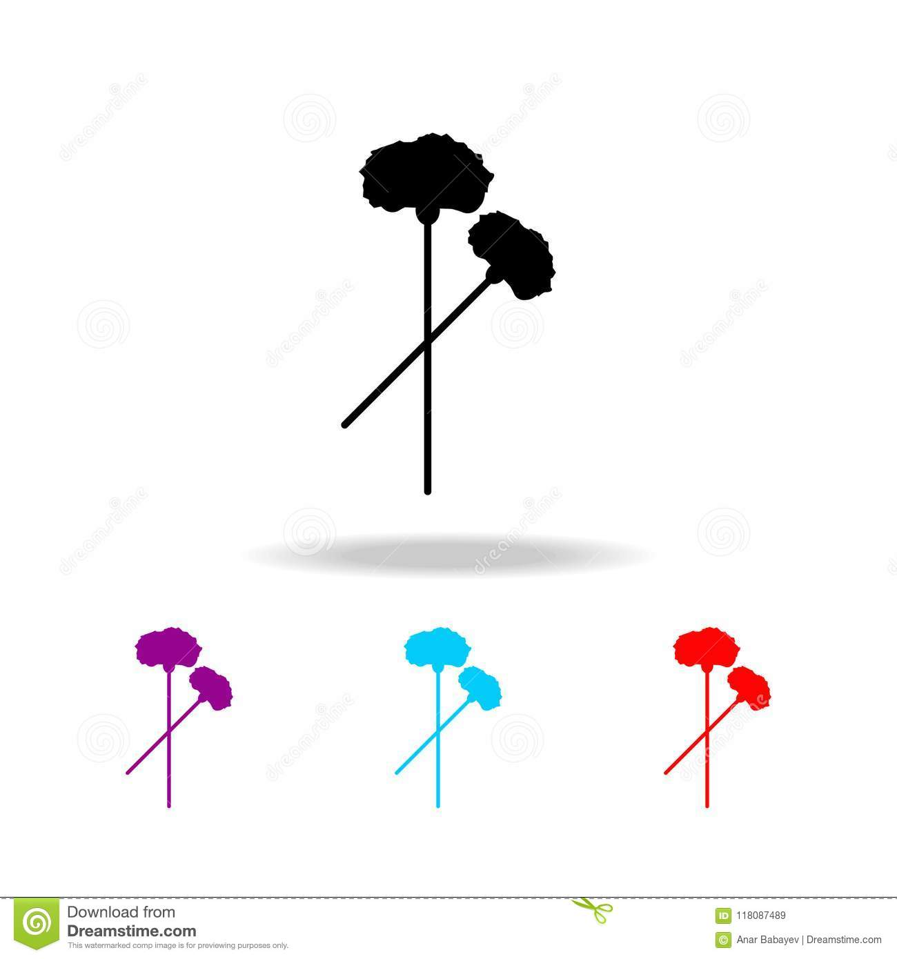 hight resolution of carnation icon elements of death in multi colored icons premium quality graphic design icon