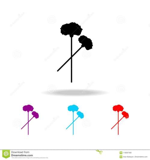 small resolution of carnation icon elements of death in multi colored icons premium quality graphic design icon