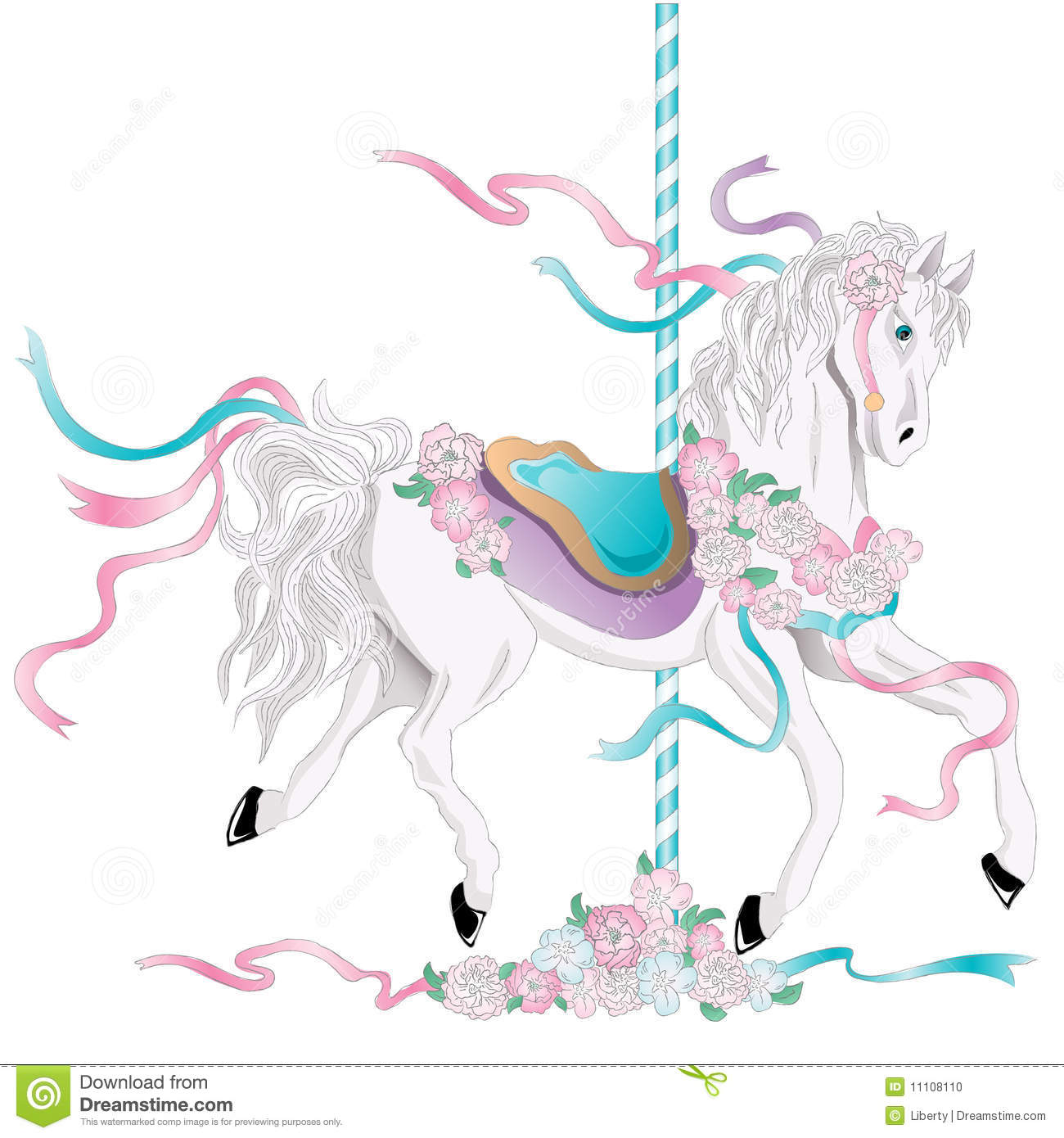 hight resolution of carousel horse