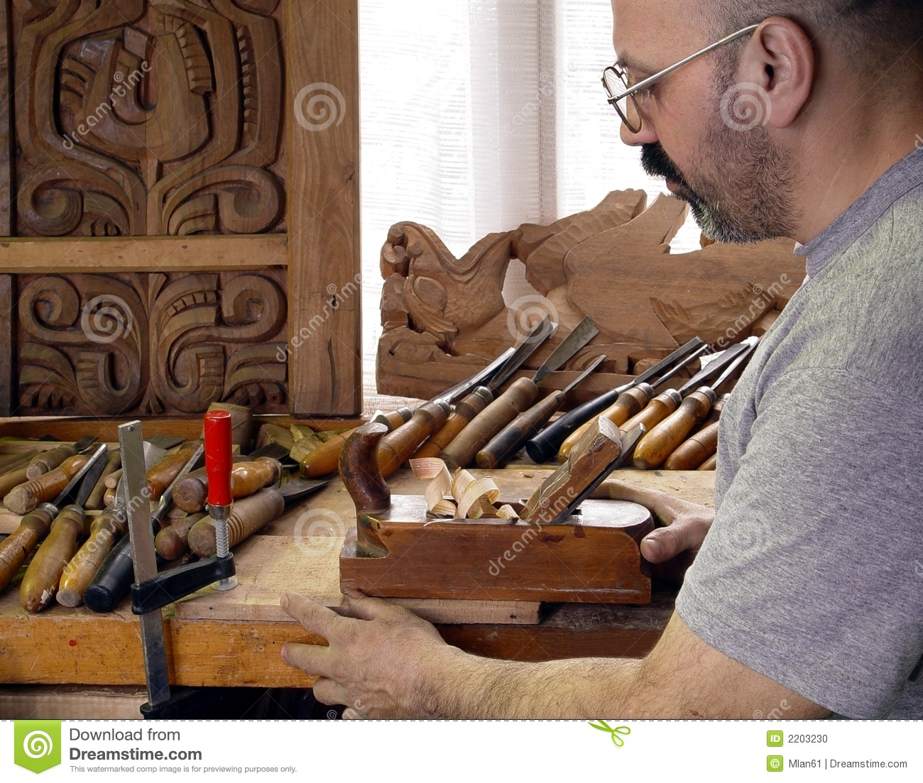 Carpenter Stock Photo  Image 2203230