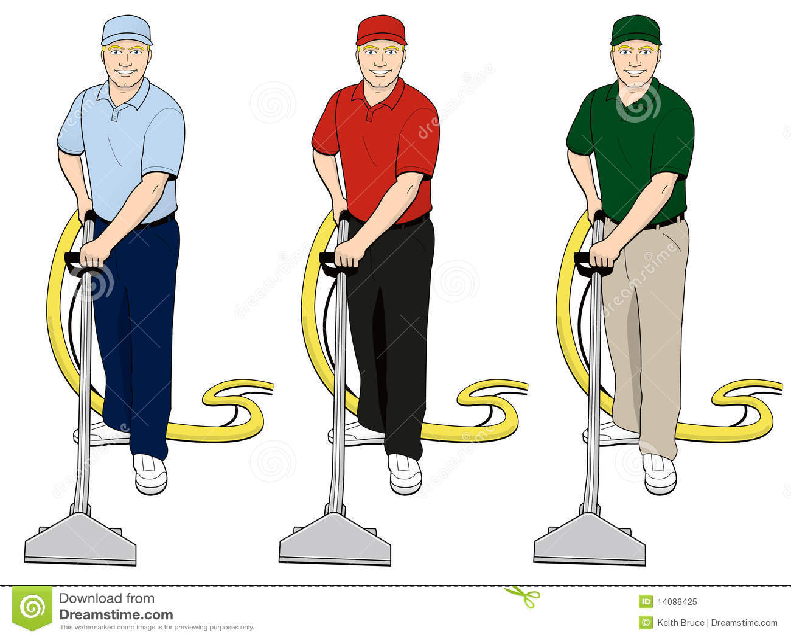 Carpet Cleaning Tech Clip Art Set 3 Stock Illustration  Illustration of hose shampoo 14086425