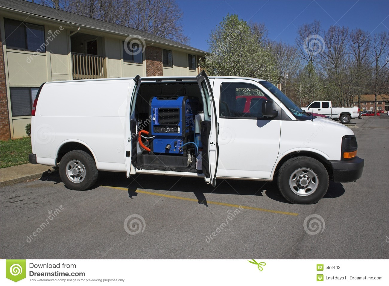 Carpet cleaning van 1 stock photo Image of mold moble