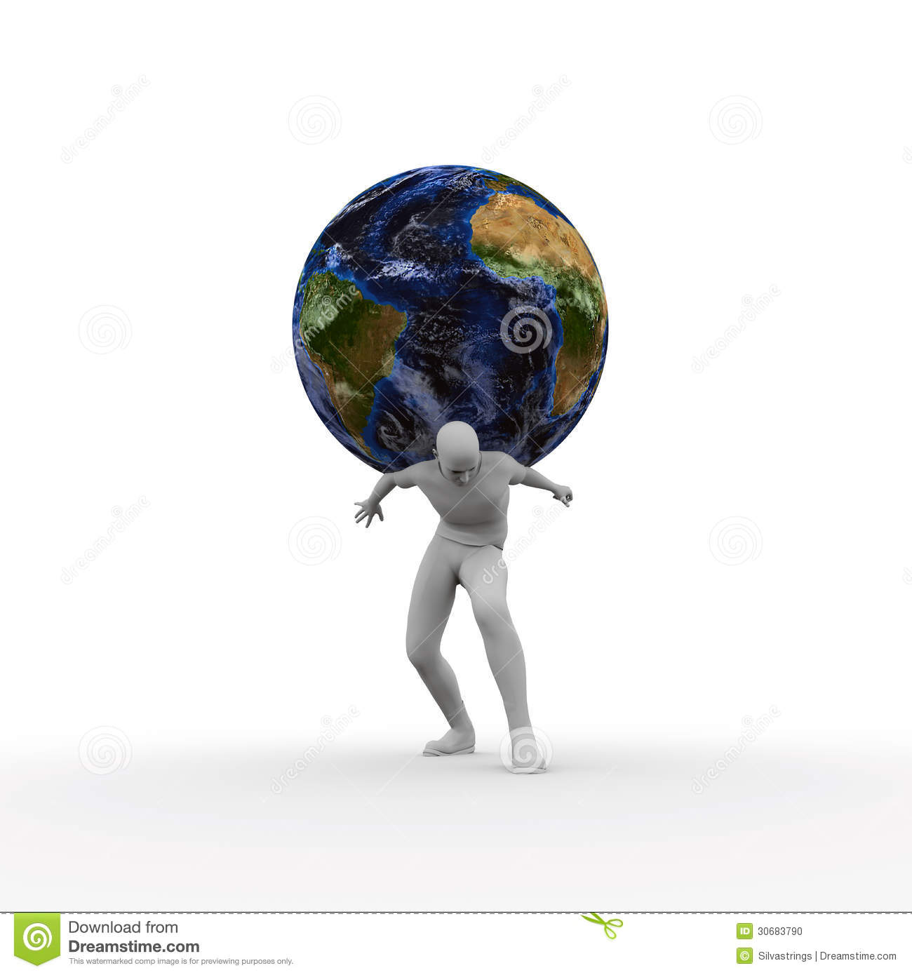 Carrying The Weight Of The World Stock Photo Image 30683790