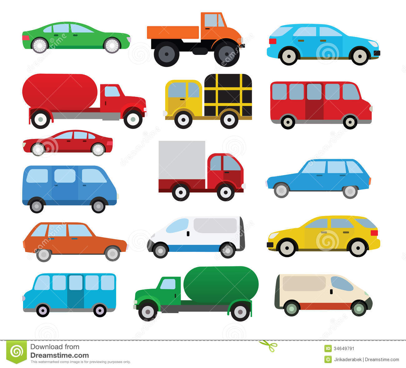 vehicle diagram clip art storage array cars collection stock image 34649791