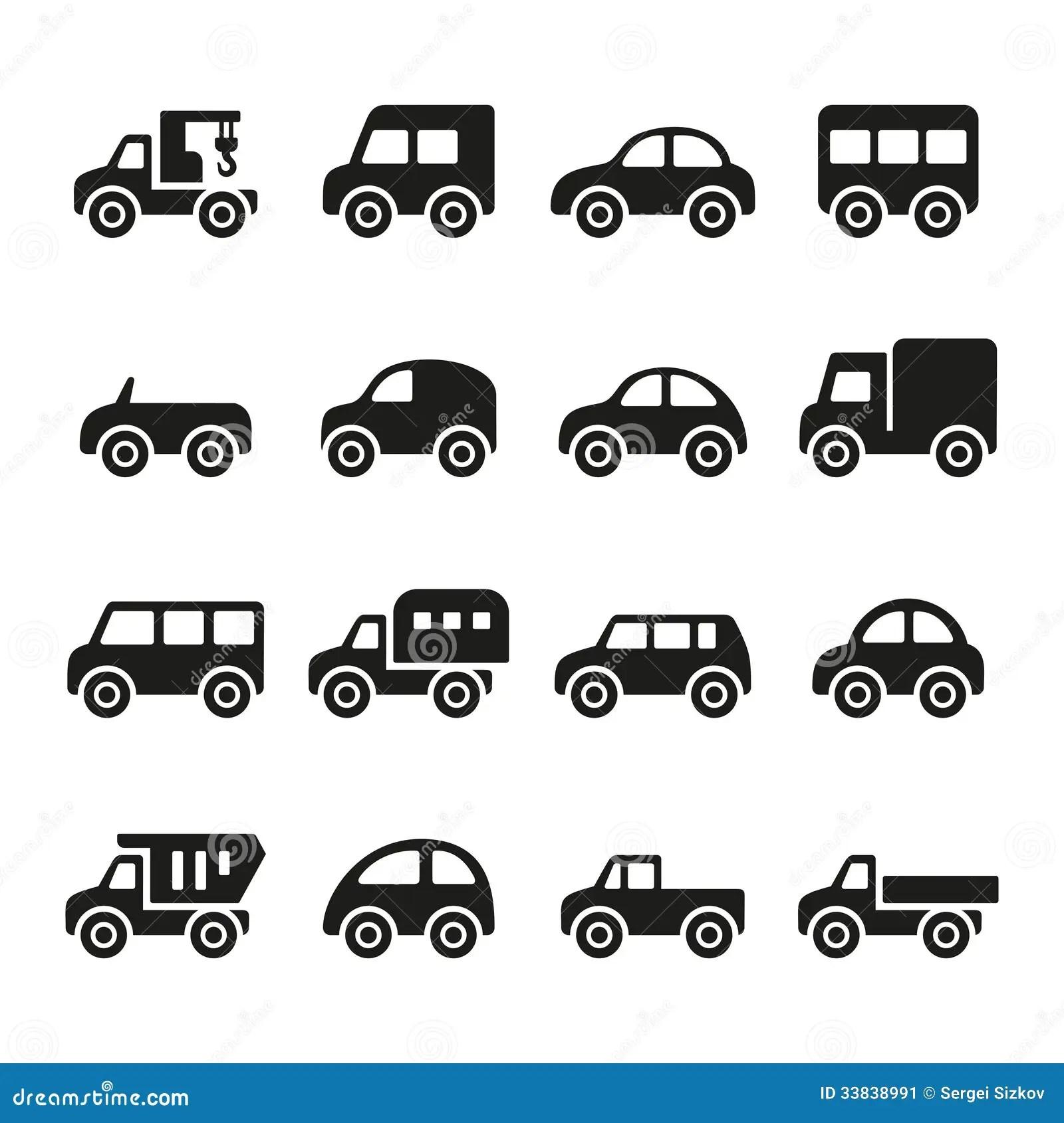 Cars Icon Set Stock Image