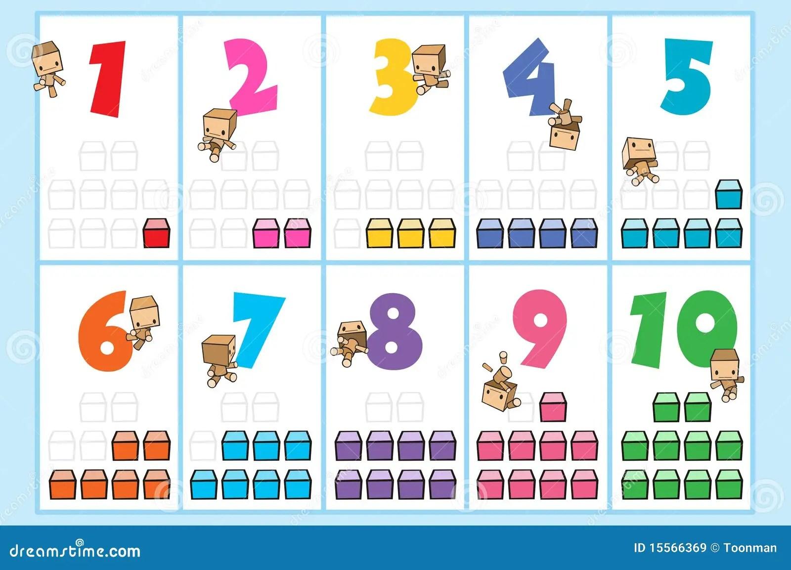 Carta Del Numero De Momo Stock De Ilustracion Ilustracion De Enumeracion
