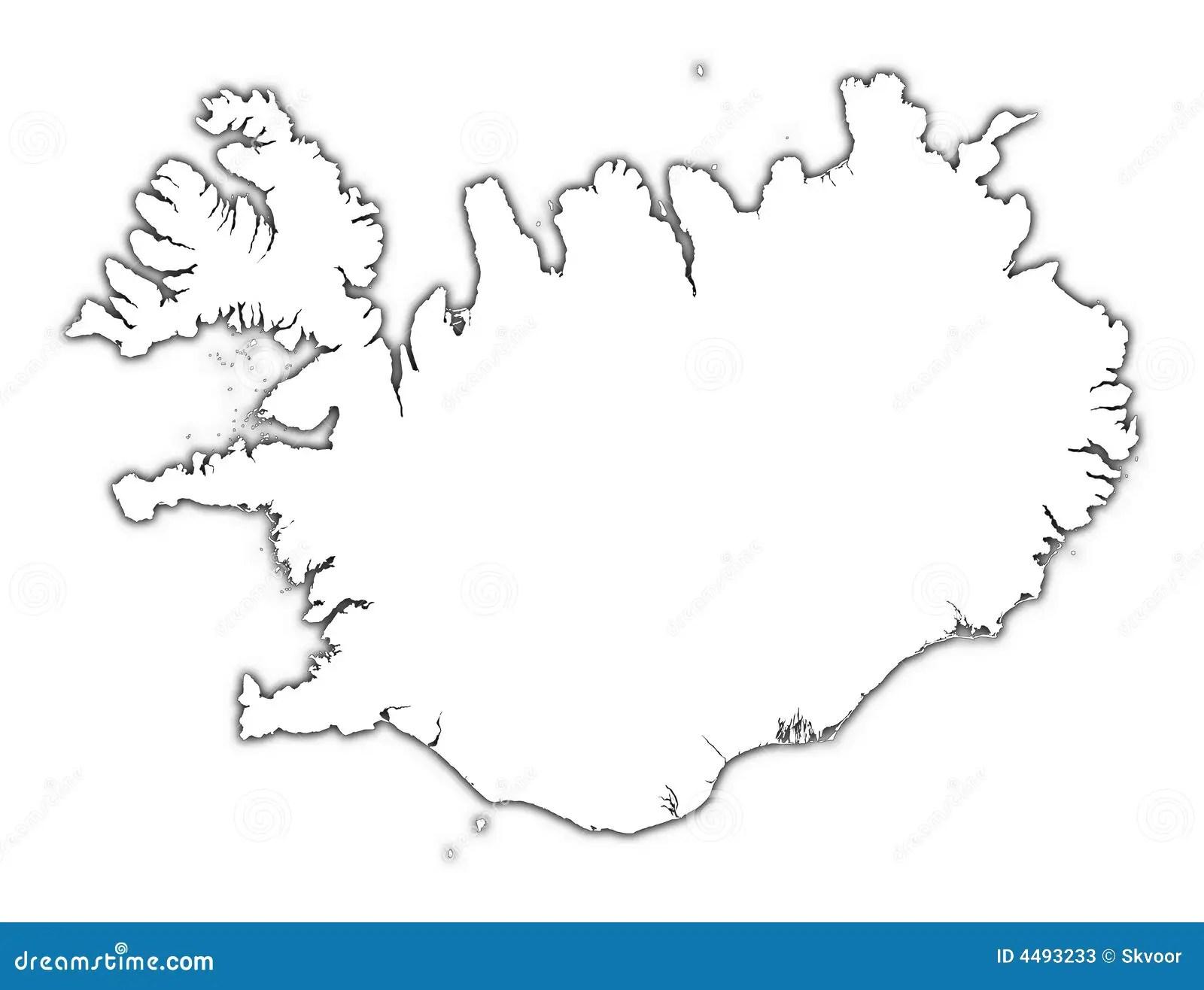 Carte D Ensemble De L Islande Illustration Stock