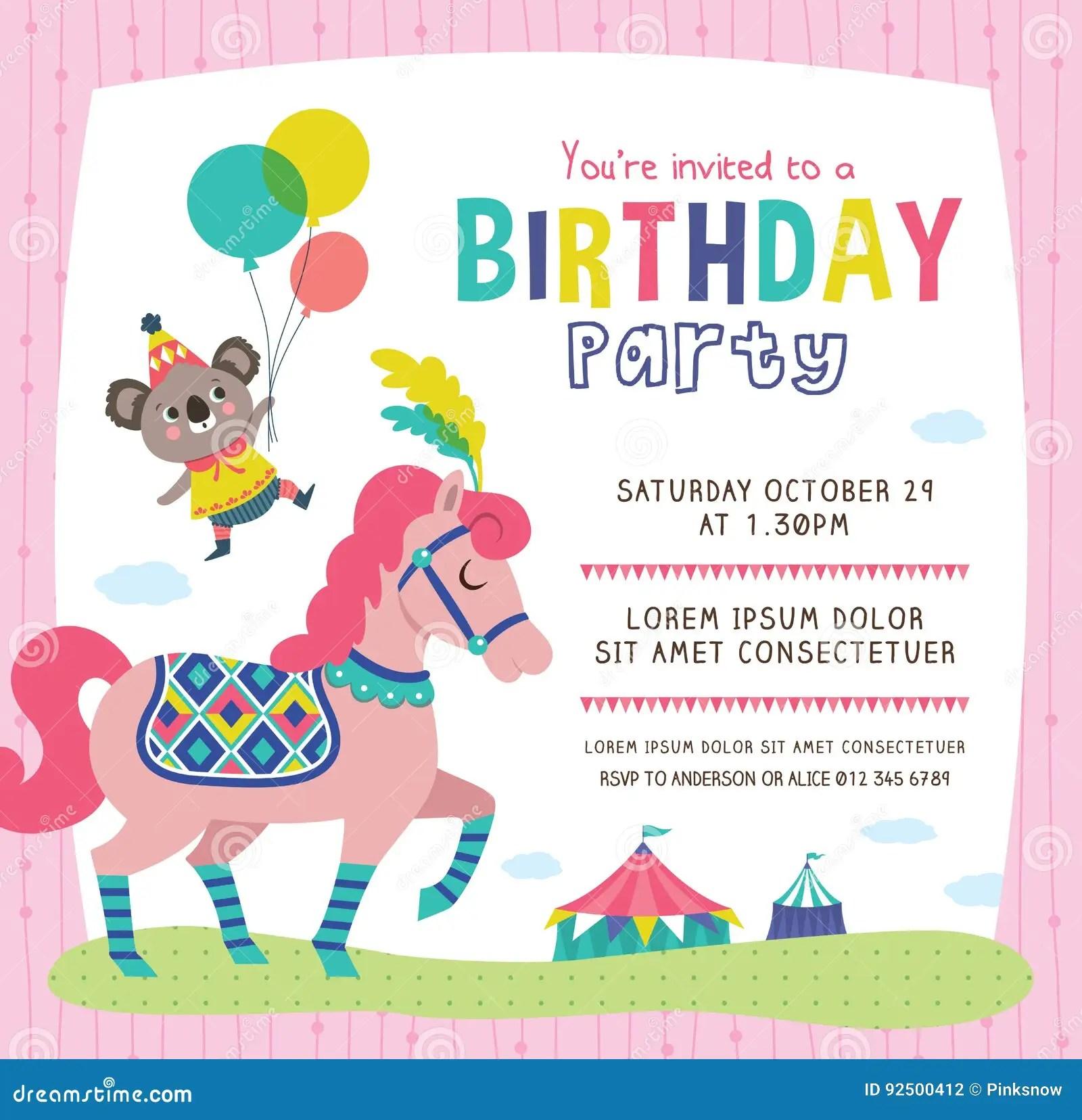 carte d invitation d anniversaire illustration de vecteur illustration du souhaits carte 92500412