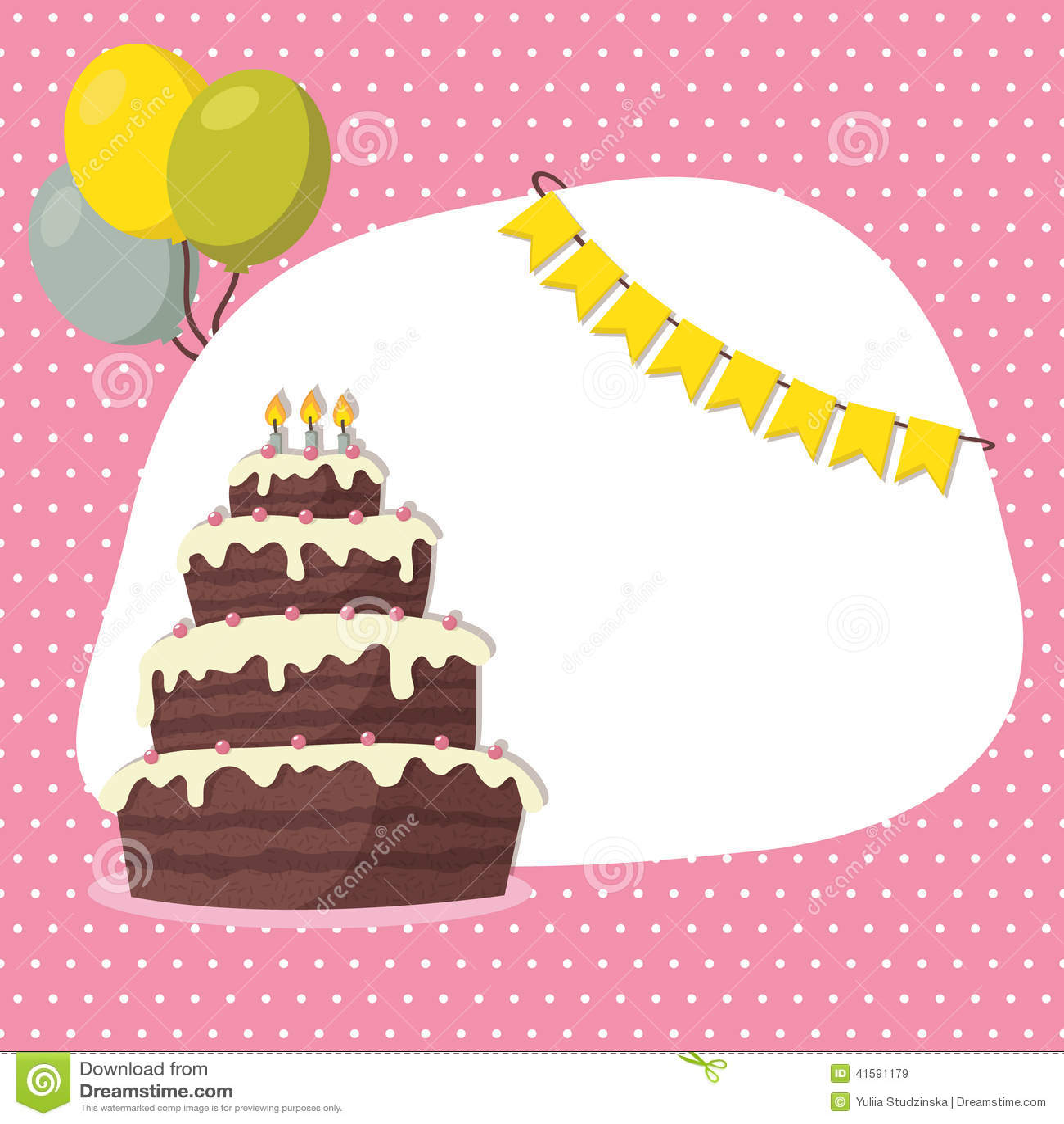 carte d invitation d anniversaire pour la fille illustration de vecteur illustration du carte fille 41591179
