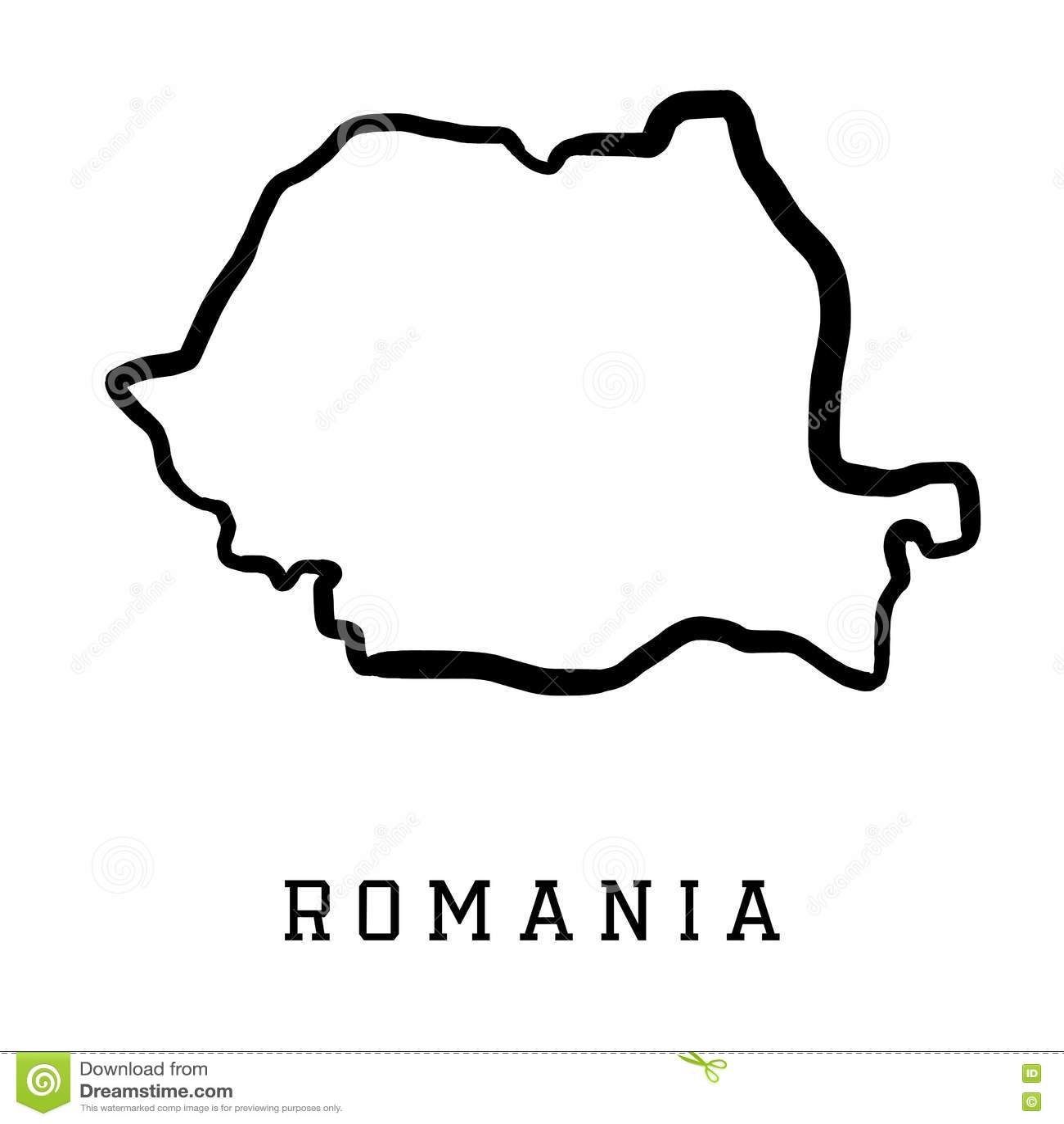 Carte De Forme De La Roumanie Illustration De Vecteur
