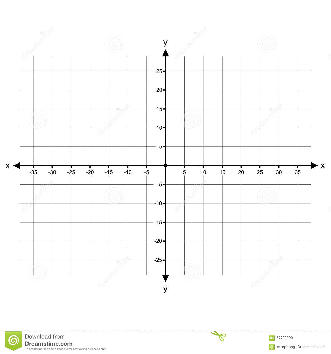 Cartesian Coordinate System Vector Stock Vector
