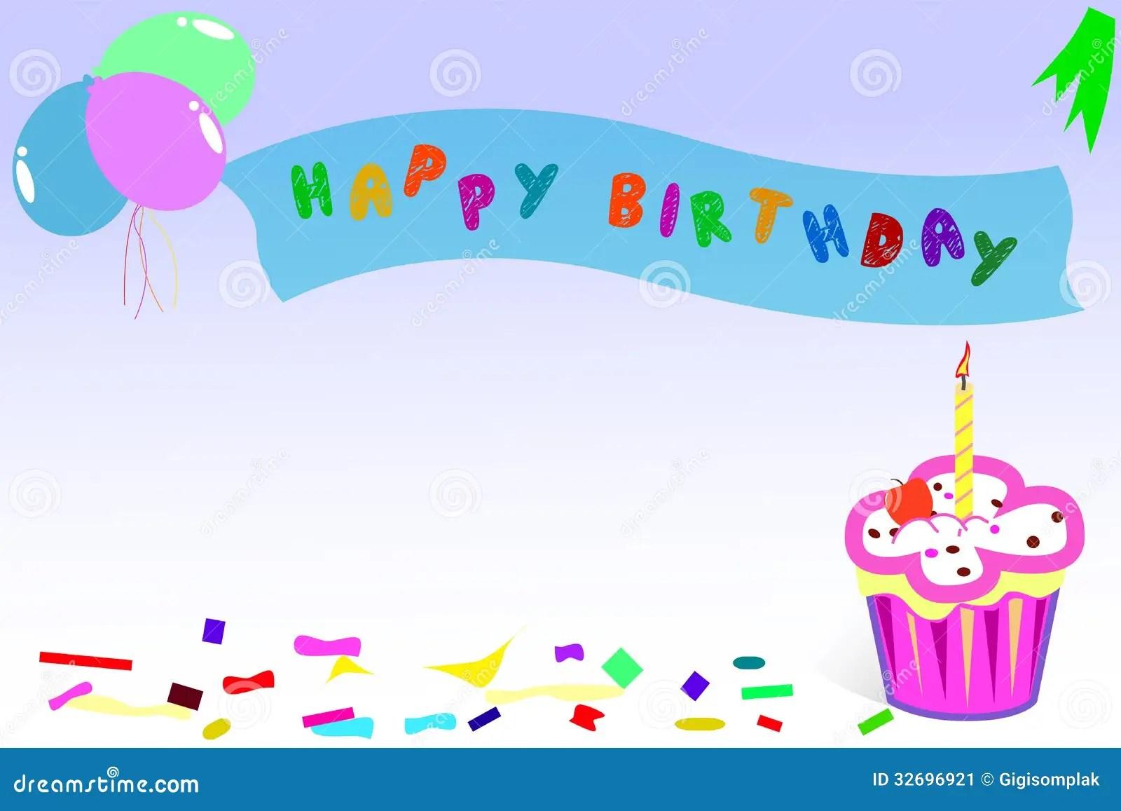 Cartão Feliz Aniversario Imagem De Stock Imagem 32696921