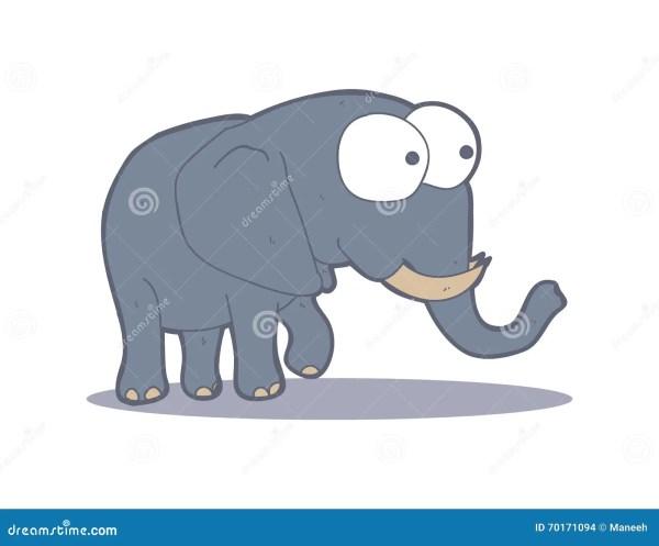 Cartoon Adorable Elephant Stock Vector - 70171094