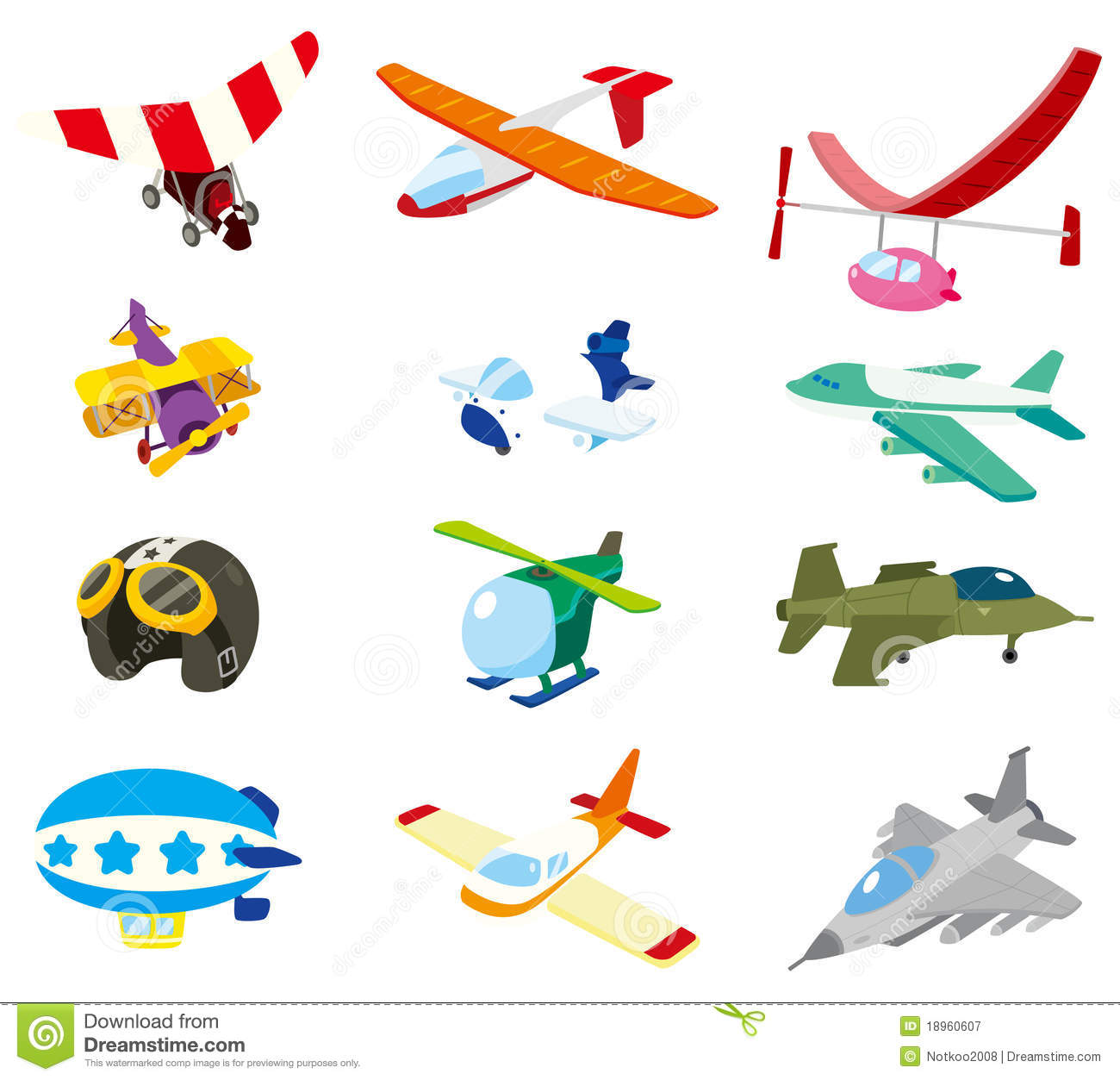 Cartoon airplane icon stock vector Image of float object