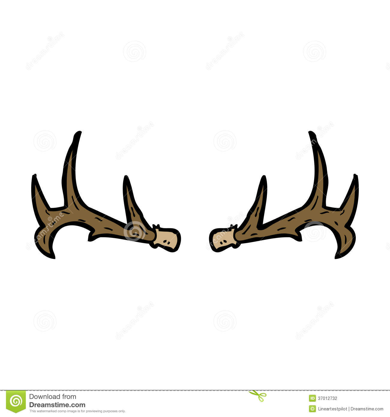 Cartoon Antlers Stock Vector Image Of Trophy Hand Stag
