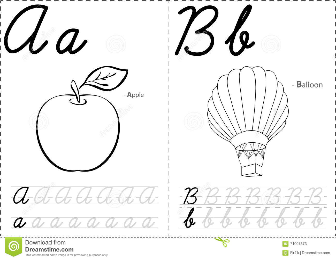 Balloon Alphabet Vector Illustration
