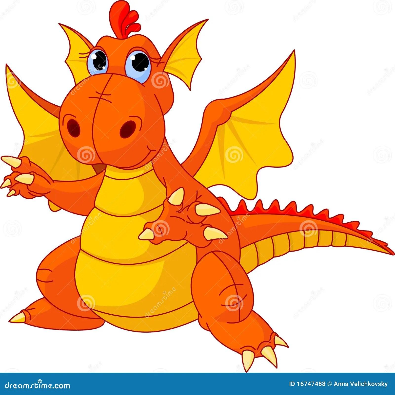 Cartoon Baby Dragon Royalty Free Stock Photos