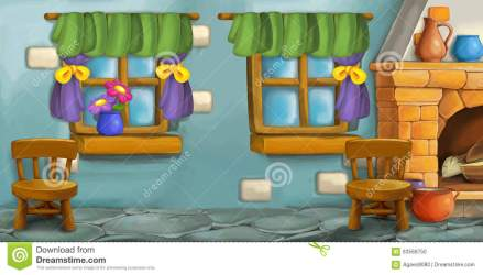 kitchen cartoon fairy background tale illustration preview