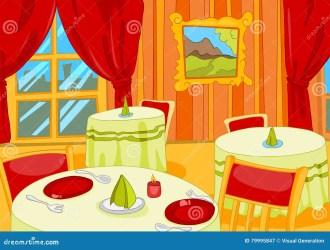 Background Cartoon Restaurant