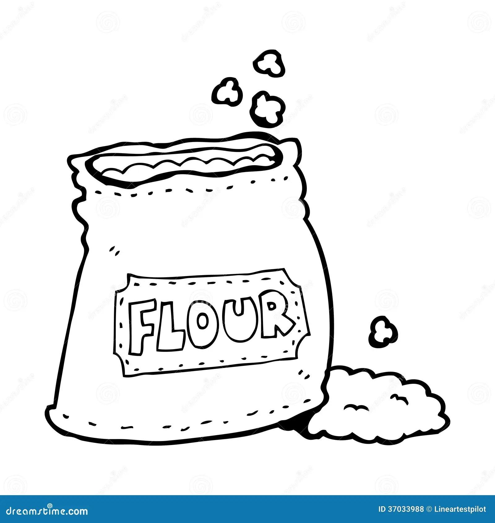 Cartoon Bag Of Flour Royalty Free Stock Photos Image