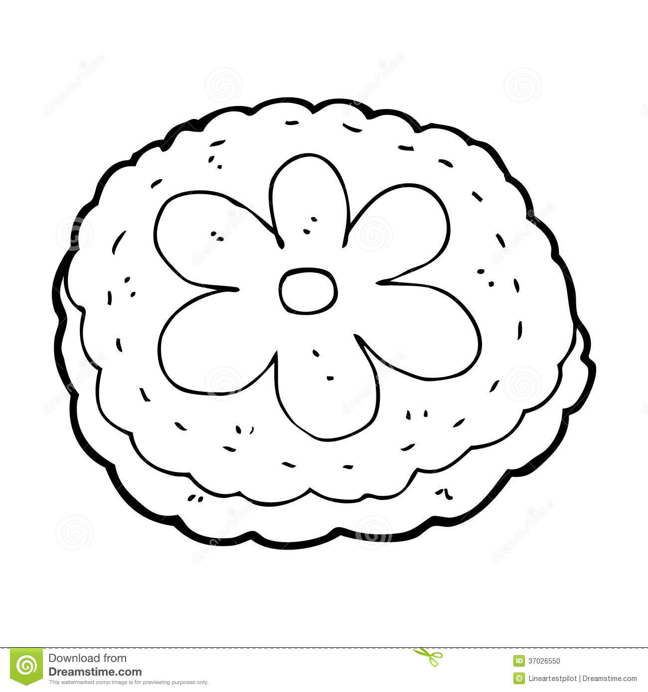 Clip Biscuit Art White Black And