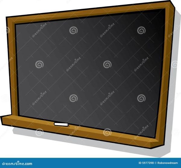 Cartoon Blackboard And Chalk Royalty Free Stock