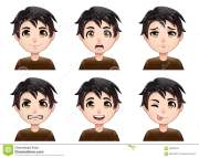 cartoon boy avatar expressions