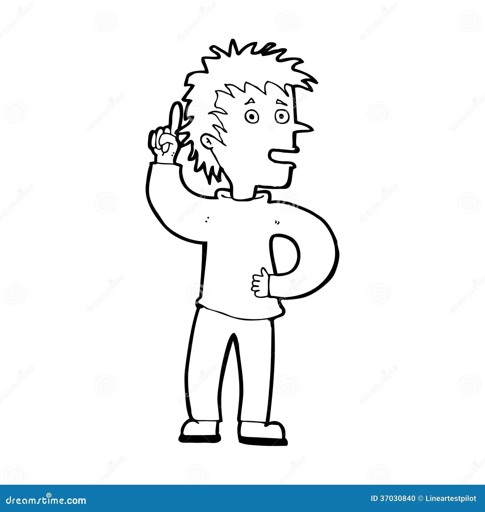 Cartoon Boy With Idea Stock Photo