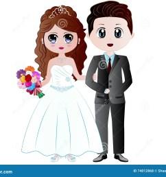 cartoon bride groom vector illustration [ 1300 x 1065 Pixel ]