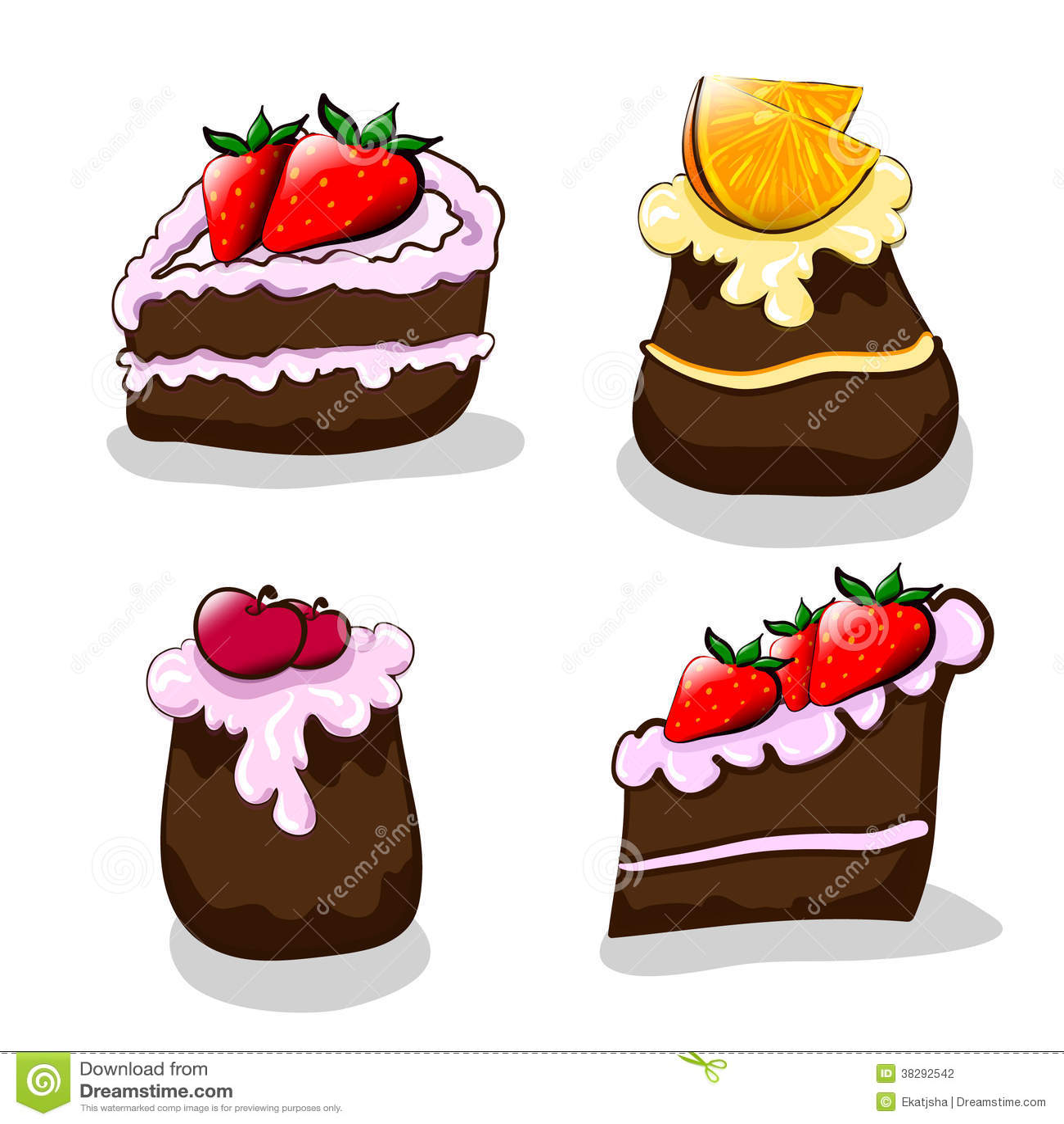 Cartoon Cakes Stock Photography - Image: 38292542