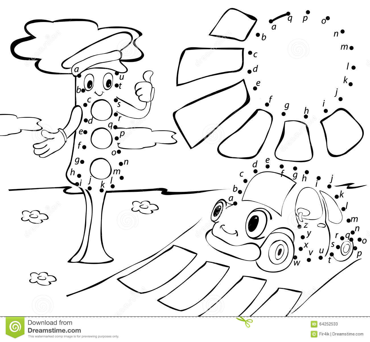 Cute Traffic Light Coloring Coloring Pages