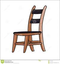 Cartoon Chair Isolated On White Background - Vector ...