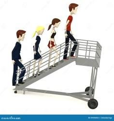 cartoon airport stairs characters aeroporto sulle cartoni personaggi animati dei dell scale royalty steps escadas less desenhada personagens banda menos