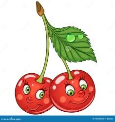 cherry cartoon fruit cherries twins ciliegia kirschen drawing character clipart gemella fumetto happy karikatur jumelle smiley cartone animato carattere face