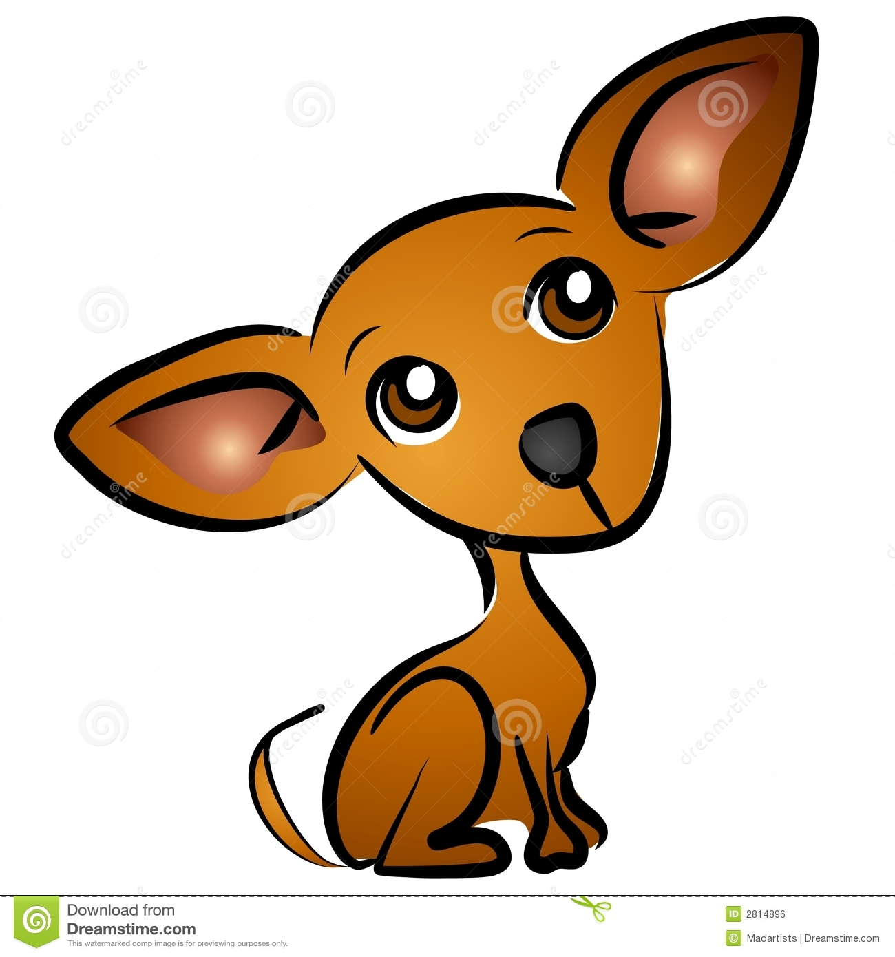hight resolution of cartoon chihuahua dog clip art