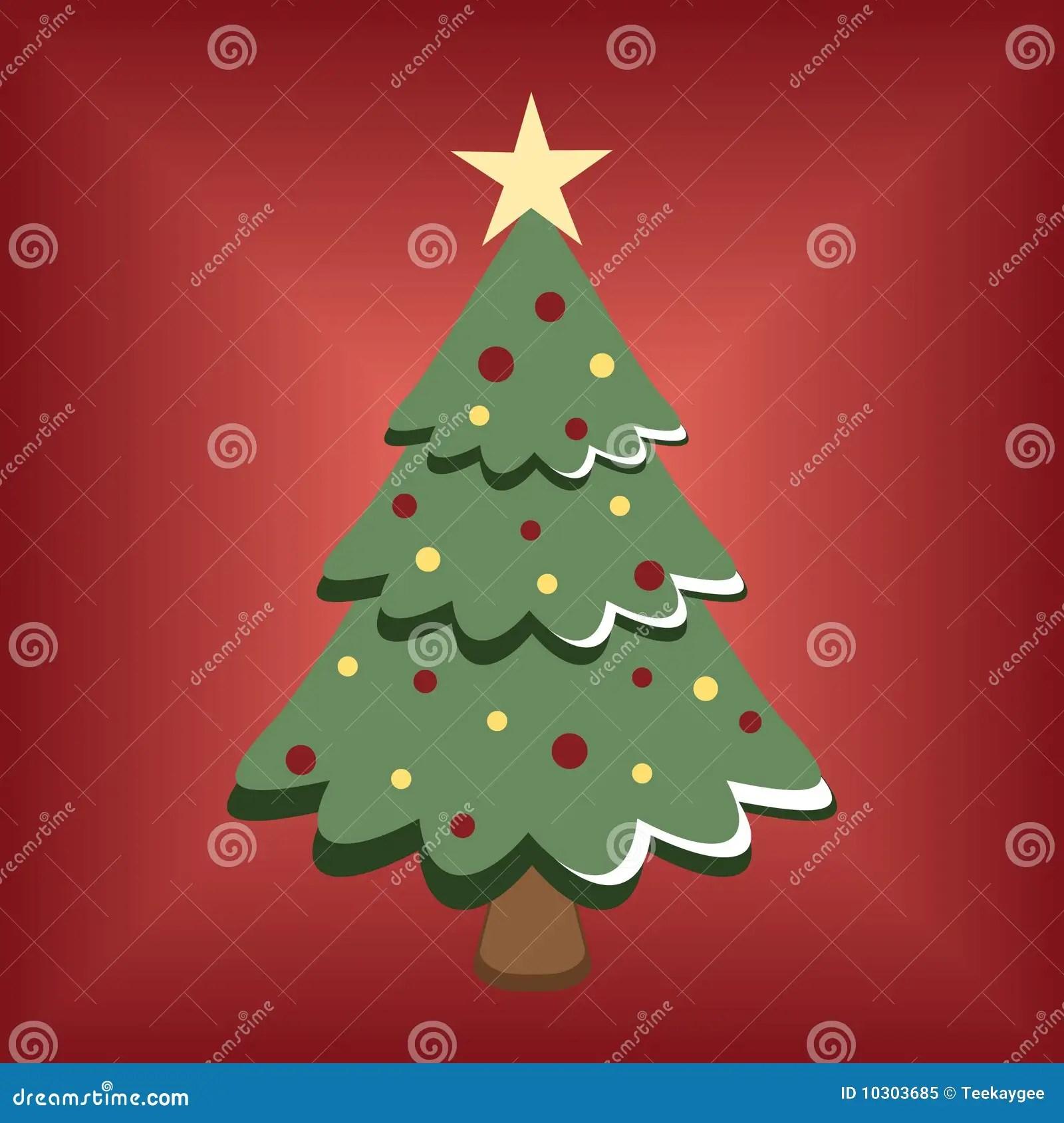 Cartoon Christmas Tree Royalty Free Stock Photo Image