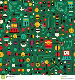 cartoon circuit board stock vector illustration of design 27892444 cartoon circuit board [ 1300 x 1390 Pixel ]